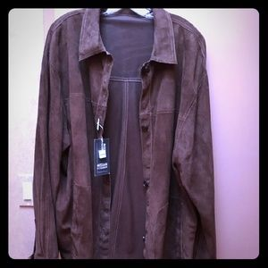Other - Ultra Suede and Faux Leather Jacket